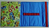 Malmappe/Zeichenmappe für DinA5 Hippie/blau